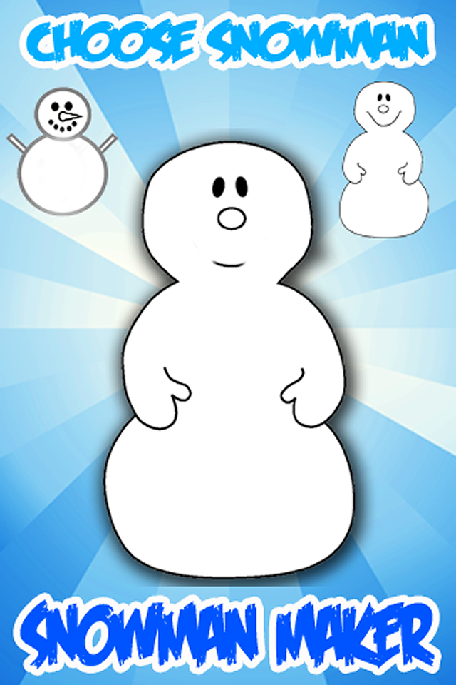 Screenshot A Snowman Maker for iPhone
